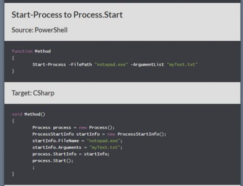 Converting PowerShell to C# through intent instead of an abstract syntax tree alone